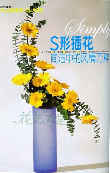 国艺花卉-花艺课堂(九)s形插花