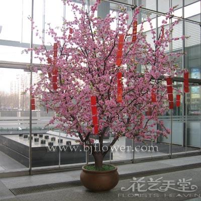假树 酒店装饰布景 造型树 仿真桃花树仿真树 许愿树 高仿真 桃树