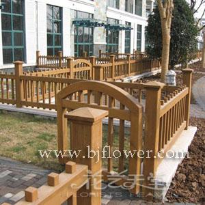 北京花卉-花艺天堂-园林木艺实景展示之五:木栅栏